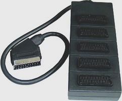 Redukcia Rozbočovač SCART M/5xSCART F, 0.5m