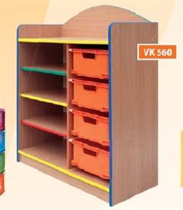 Regál s 4 VPL zásuvkami