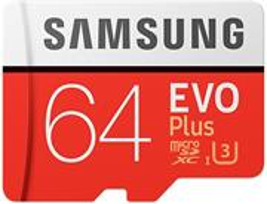 Samsung EVO Plus microSDXC 64GB + adaptér