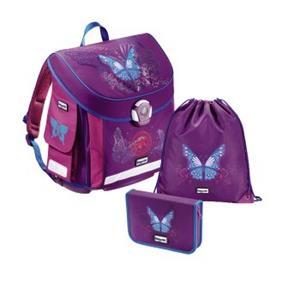 školská aktovka - 3 dielny set Baggymax CANNY Motýľ