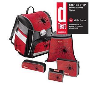 Školská aktovka - 5-dielny set Step by Step Červený pavúk, certifikát AGR