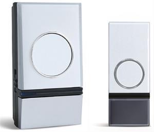 Solight 1L28 bezdrôtový zvonček plug-in, 200m, nastavenie hlasitosti, biely, learning code, vode odolný + 12V/23A