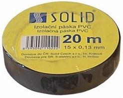 Solight izolačná páska, 15mm x 0,13 mm x 20m, čierna