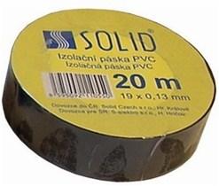 Solight izolačná páska, 19mm x 0,13 mm x 20m, čierna