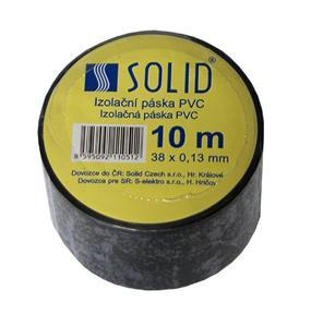 Solight izolačná páska, 38mm x 0,13 mm x 10m, čierna