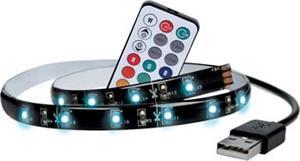 Solight LED RGB pásik pre TV, 100cm, USB, vypínač, diaľkový ovládač