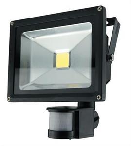 Solight LED vonkajší reflektor, 20W, 1400lm, čierna