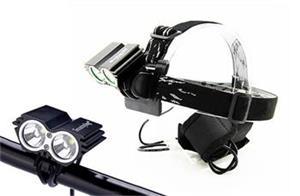 Solight nabíjacie LED cyklo a čelové svietidlo, 1100lm
