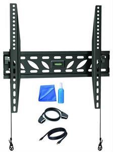 Solight stredný naklápací držiak pre ploché TV od 66 - 140cm (26'' - 55'') + čistenie and HDMI and SCART kábel