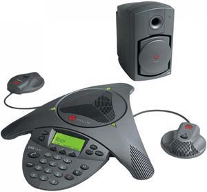 SOUNDSTATION VTX 1000 + +Sub-woofer, 2x EX Microphones