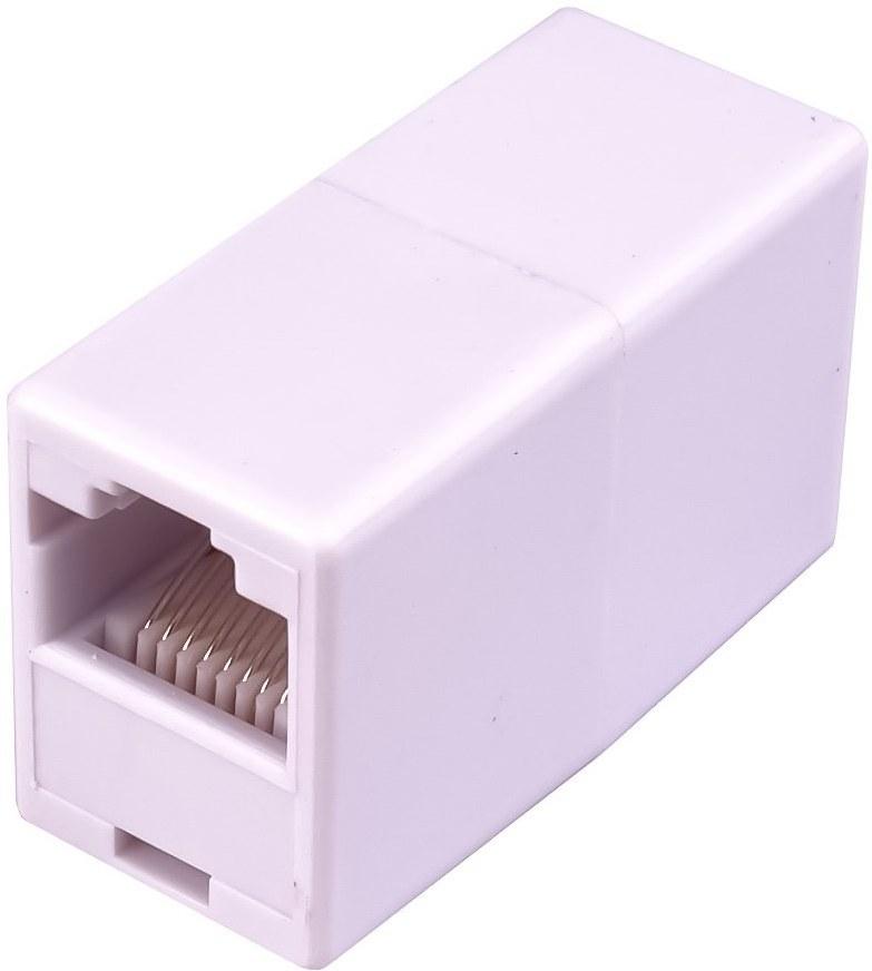 Spojka sieťová UTP RJ45 Cat5e biela/priama