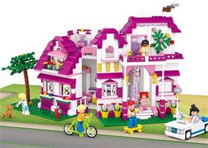 Stavebnica Sluban Girls Dream Luxusní vila, 726 dílků