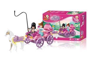 Stavebnica Sluban Girls Dream Princess Princeznin kočár, 99 dílků