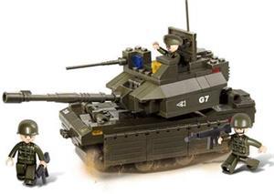 Stavebnica Sluban Tank M1A2-Abrams, 219 dielov (M38-B0287)