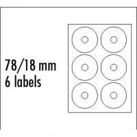 Štítky CD 8cm 78/18 univerzálne biele