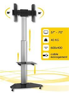 Techly mobilný stojan na TV LCD/LED/Plasma 37''-70'' VESA, pivot, nastaviteľný