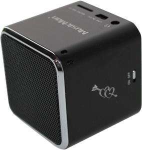 Technaxx Mini MusicMan, prenosný reproduktor, baterie 600 mAh, čierny