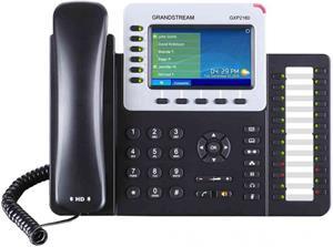 Telefón Grandstream GXP-2160 VoIP telefon - 6x SIP účet, HD audio, 2x LAN 10/100/1000 port, PoE, konference, BT