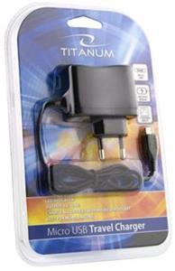 Titanum TZ101 Univerzálna nabíjačka do siete MicroUSB | AC 220-240V | 5V | 800mA