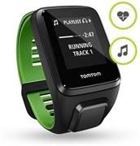 TomTom Runner 3 Cardio+Music, smartwatch, čierno-zelené
