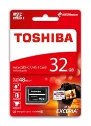 Toshiba microSDHC EXCERIA 32GB Class 10 UHS I + adaptér