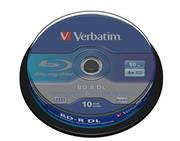 VERBATIM BD-R DL 10-pack 50GB/6x/spindle