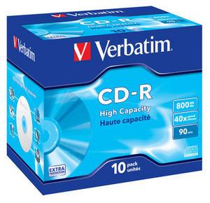 Verbatim CD-R 52x/800MB/Jewel/High Capacity
