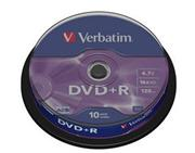 Verbatim DVD+R 10 pack 16x/4.7GB