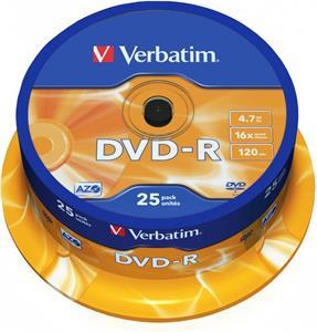 Verbatim DVD-R 25 pack 16x/4.7GB/azo
