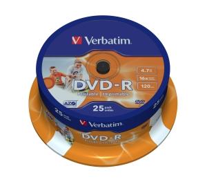 Verbatim DVD-R 25 pack 16x/4.7GB/Printable
