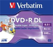 Verbatim DVD+R DL 8x/8.5GB/Jewel/Printable