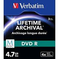 Verbatim DVD-R, M-Disc, 3-pack, 4.7GB, 4x, 12cm, General, Standard, slim box, pre archiváciu dát
