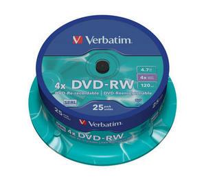 Verbatim DVD-RW 25 pack 4x/4.7GB