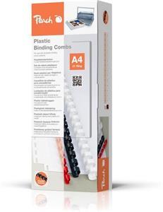 Viazací chrbát Peach plastový A4 průměr 6mm bílý 100ks (PB406-01)