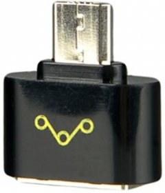 WE Adaptér OTG USB 2.0 Micro USB M - USB F Black