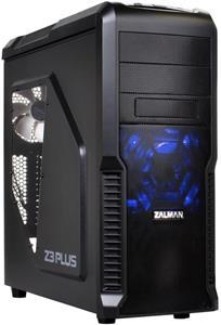 Zalman case miditower Z3 Plus, mATX/ATX, priesvitný bok, USB3.0, bez zdroja, čierna