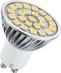 Žiarovka LED Emos 5050 24LED GU10 teplá biela