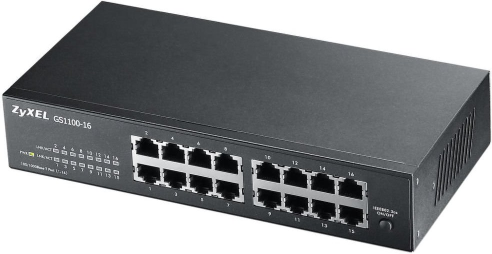 ZYXEL GS1100-16, 16xGb fanless switch