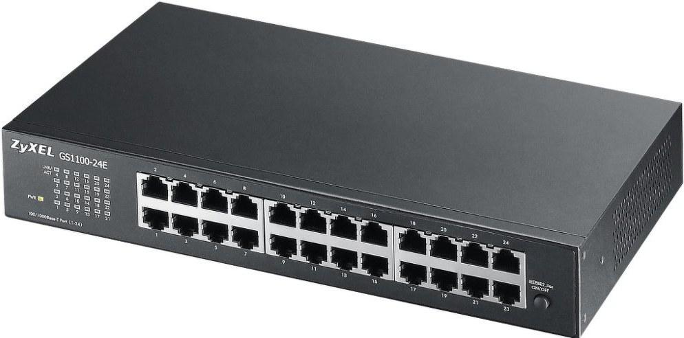 ZYXEL GS1100-24E, 24 portov