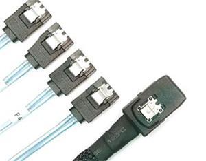 0.5m Mini SAS plug with (SFF-8087) <> 4 x SATA plug