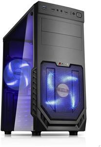 1stCOOL JAZZ 2, Blue FAN, temperované sklo, čierna