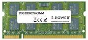 2-Power, DDR2, SO-DIMM, MultiSpeed 533/667/800 MHz, 2 GB, CL4/5/6, 2Rx8
