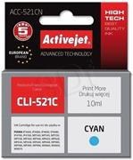 ActiveJet ink Canon CLI-521C, cyan, 10 ml + chip