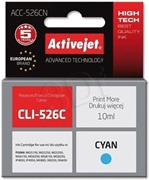 ActiveJet ink Canon CLI-526C, cyan, 10 ml, bez chipu