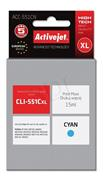 ActiveJet ink Canon CLI-551, cyan, 15 ml, s chipom