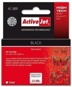 ActiveJet ink Canon CLI-8, čierny, 15 ml + chip