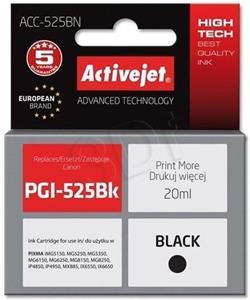 ActiveJet ink Canon PGI-525Bk, čierny, 20 ml, s chipom