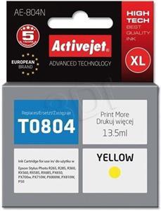 ActiveJet ink Epson T0804, žltý, 12 ml