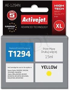 ActiveJet ink Epson T1294, žltý, 15 ml