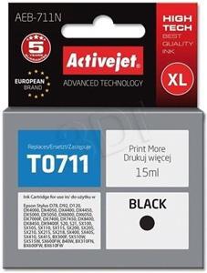 ActiveJet ink Eson T0711, čierny, 10 ml